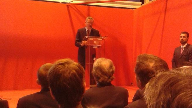 Alberto Ruiz-Gallardón durante su discurso de inauguración de SIMO Network 2013