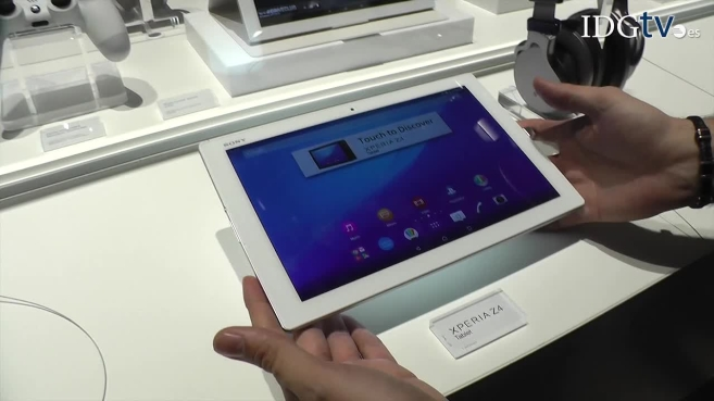 Presentación de la tableta Sony Xperia Z4 en el Mobile World Congress