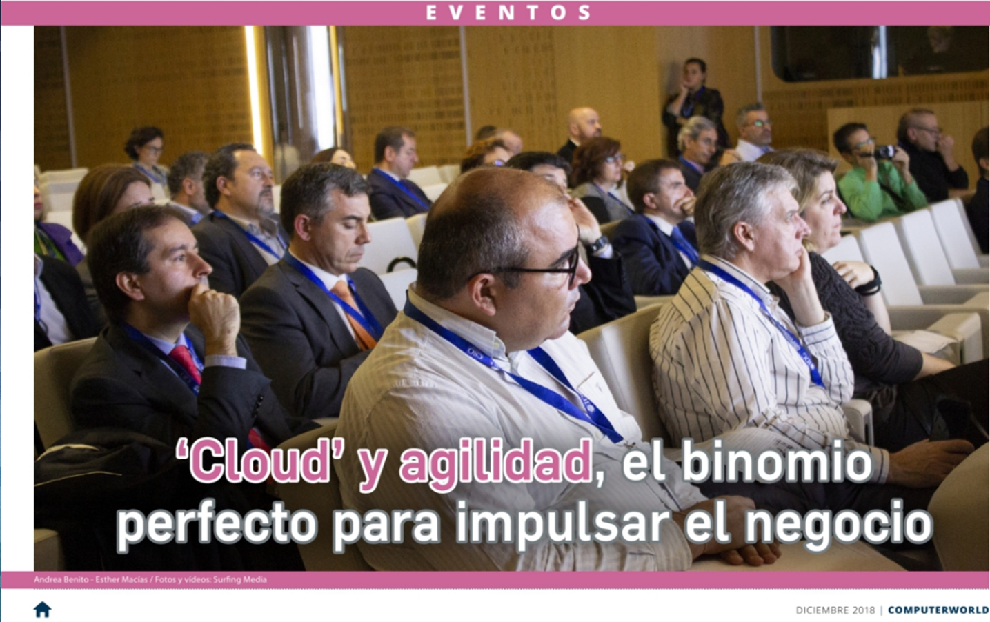 Reportaje Cloud ágil 2018