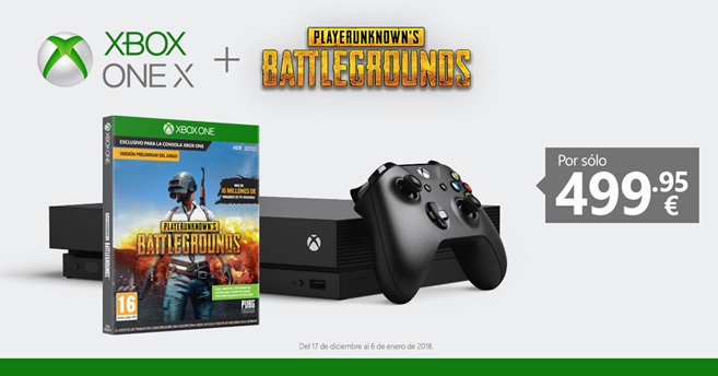 Xbox One X Ofrece Un Pack Con El Juego Playerunknown S Battlegrounds